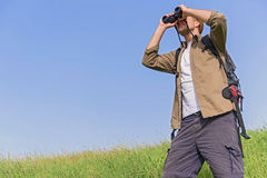 Young male tourist searing for location Royalty Free Stock Photography
