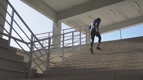 Male athlete outdoor stock video