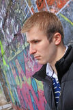 Young man. Portrait of the young adult blonde man Stock Photo