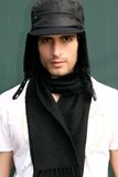 Young Man. A young attractive man wearing a wool hat Royalty Free Stock Photography