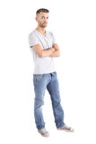Young Man. A handsome man standing in front of a white background Stock Photography