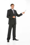 Young Man. In business suit on isolated background royalty free stock photo