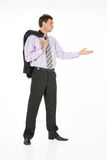Young Man. In business suit on isolated background stock image