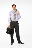 Young Man. In business suit on isolated background stock photo