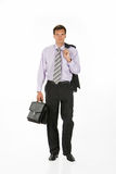 Young Man. In business suit on isolated background royalty free stock photos