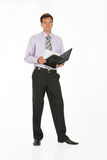 Young Man. In business suit on isolated background royalty free stock image