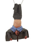 Young man in acrobatic tricks on rope Stock Photo