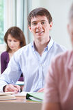 Young Man In Adult Education Class Royalty Free Stock Photography