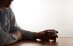 A young man alcohol abuse Royalty Free Stock Image