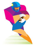 Young man is american football player Royalty Free Stock Image