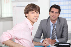 Young man at appointment Stock Photo