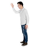 Young man arguing side Stock Images