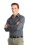 Young Man With Arm Crossed Stock Photo