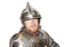 Young man in armor during a Historical enactment Stock Image