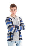 Young man with arms crossed Royalty Free Stock Images