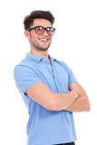 Young man with arms crossed Stock Photography