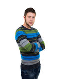 Young man with arms crossed Royalty Free Stock Photography
