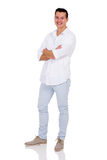 Young man arms crossed Stock Photo
