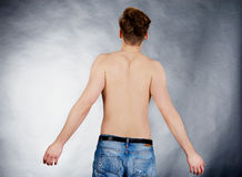 Young man with arms wide open. Stock Photography