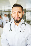 Young man as competent doctor Royalty Free Stock Image