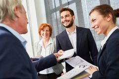 Young man as successful candidate. Young men as successful candidate in job and career day stock photos