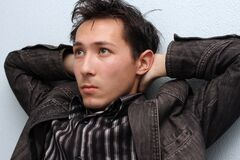 Young man asian Stock Photos