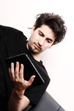 Young man with aTablet PC Royalty Free Stock Image