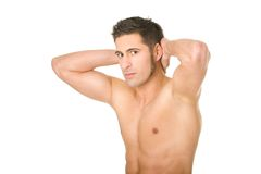 Young man with athletic torso Royalty Free Stock Image