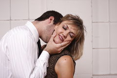 Young man with attractive woman stock photos