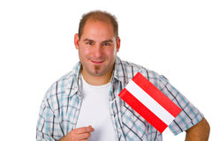 Young man with australia flag Royalty Free Stock Photography