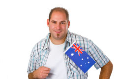Young man with australian flag Royalty Free Stock Photo