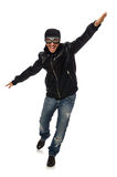 The young man with aviator glasses on white Stock Photography