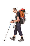 The young man with backpack Royalty Free Stock Photography