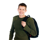 Young man with backpack Stock Photo