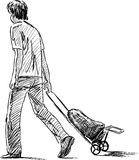 Young man with baggage Stock Image