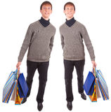 Young man and bags Stock Photography
