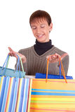 Young man and bags Royalty Free Stock Images