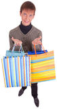 Young man and bags Royalty Free Stock Photography