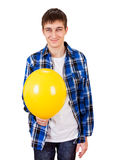Young Man with Balloon Royalty Free Stock Photography