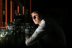 Young Man at the Bar royalty free stock image