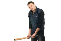 Young man with baseball bat Stock Photography