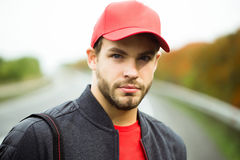 Young man in baseball cap Royalty Free Stock Photo