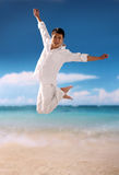 Young man with beach Stock Photography