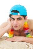 Young man at the beach Royalty Free Stock Photos