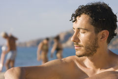 Young man - Beach, Sardinia, Italy Stock Photography