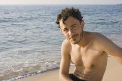 Young man - Beach, Sardinia, Italy Royalty Free Stock Image