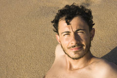Young man - Beach, Sardinia, Italy Stock Photos