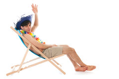 Young man at the beach Royalty Free Stock Image