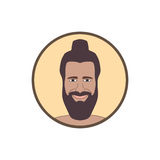 Young man with beard icon Stock Photo
