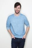 Young man with beard laughing Royalty Free Stock Images